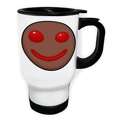 INNOGLEN Glücklicher Smilekuchen Weiß Thermischer Reisebecher 14oz 400ml Becher Tasse p435tw