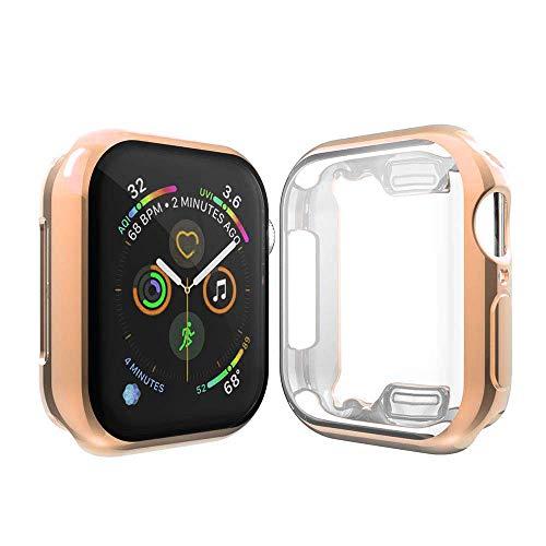 Cerike Compatible Apple Watch Series 4 Protector de Pantalla, Funda Protectora Suave y Completa para iWatch 4 Apple Watch Serie 4 Smartwatch (40MM, Rose Gold)
