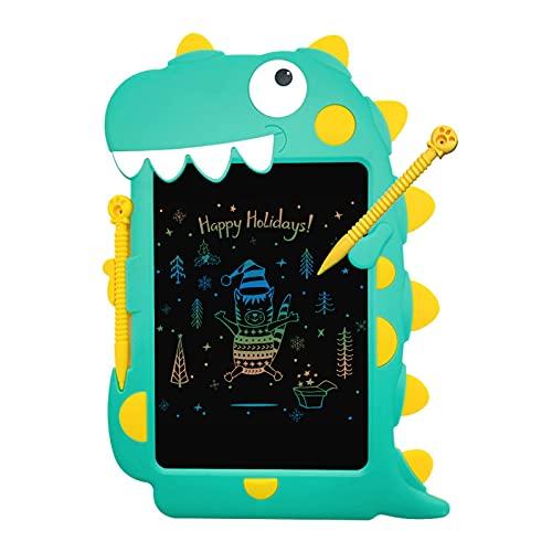 skrskr Tableta de escritura LCD, almohadilla de dibujo con forma de garabato, tablero de escritura a mano de 8.5 pulgadas con botón de bloqueo de lápiz para niños pequeños, juguetes educativos de