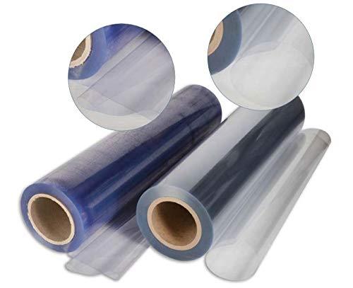 PVC TRASPARENTE Plastificato Cristal 100% IMPERMEABILE, Mille usi, Altezza rotolo 135 cm,Doppio spessore, Vendita al mezzo Metro Lineare (SPESSORE 0,80 MM)