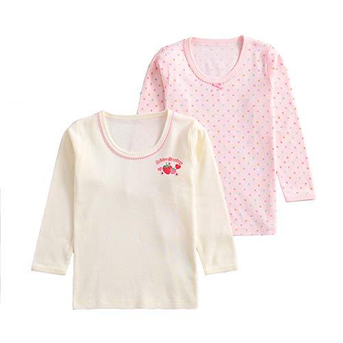 ALLAIBB Automne Enfant Fille Garçon Tenue Top de Vest à Manche Longugeur en Coton Size 80 (Strawberry)