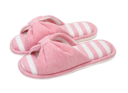 (Made By Cotton) Skidproof Le Style Simple De Pantoufles(Rose)