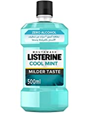 LISTERINE Zero Alcohol Mouthwash - Mild Mint, 500 ml