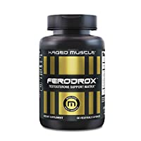 Kaged Muscle, Ferodrox, Ultra-Premium Testosterone Booster with LJ100® Tongkat Ali, KSM-66® Ashwagandha and Shilajit - Supports Testosterone Levels, 30 Servings