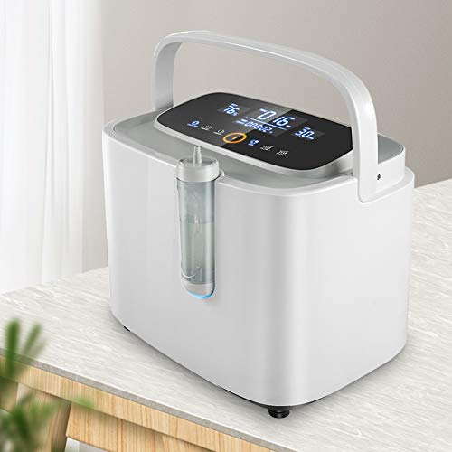 4YANG Oxigeno Portatil Concentrador 93% Dispositivo de oxígeno de alta pureza 1-7L/min Máquina de oxígeno ajustable para uso doméstico y de viaje (Súper tranquilo < 45dB)