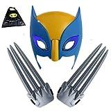 HYE Garras de Wolverine, 2 Piezas 1 par de glaws de Lobo con máscara para niños con máscara de plástico Cosplay Accesorios acción Figura 1: 1 película Wolf Paws Props X-Men Logan 20cm / 7.87in