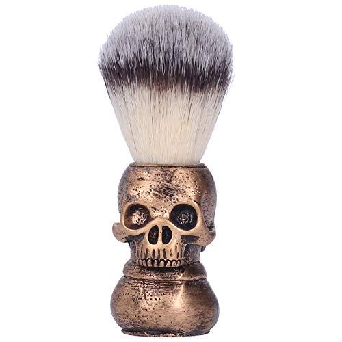 Cepillo de afeitar de salón, cepillo de afeitar de espuma de limpieza facial, cepillo de barba portátil para hombres, herramienta de aseo para crema de afeitar, espuma o jabón
