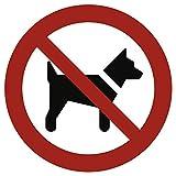 Hunde verboten gemäß ASR A1.3 / DIN 7010 Alu 20 cm Ø thumbnail