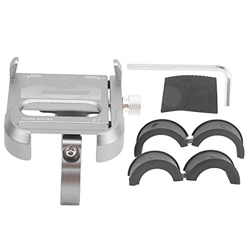 Eosnow Tenedor del teléfono de la Bicicleta, Soporte del teléfono de la Bicicleta 360 ° Ajustable Giratorio para completar un Ciclo(Titanium)