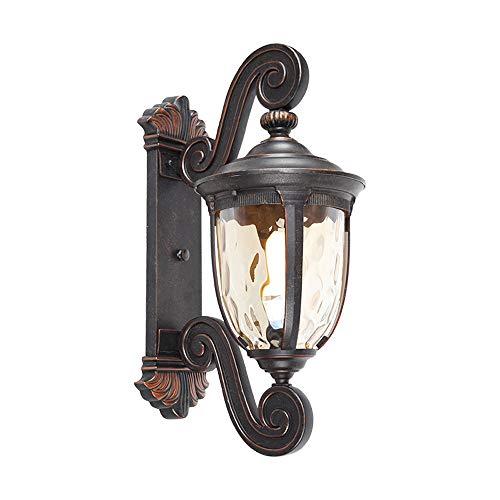 GWF Lámpara de Pared de Aluminio para Exteriores, lámpara de Pared de Vidrio Impermeable, Retro Estadounidense, lámpara de jardín, Puerta de la Pared del Chalet, balcón, terraza, lámpara de Pa
