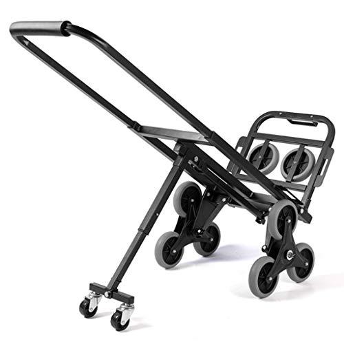 Plataforma plegable portátil para subir escaleras Plataforma rodante Carro de plataforma plana Carro de equipaje Carro 8 ruedas y 2 ruedas de respaldo Carretilla de mano Capacidad de carga de 150 kg