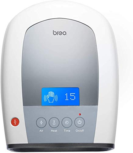 Breo iPalm520 Electric Acupressure Palm Hand Finger Massager with Air Pressure Heat Compress and LCD Display for a Gift of Fingers Strain/Numbness Relief (LCD Version)