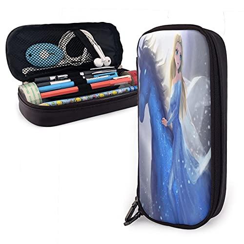 Frozen Elsa - Estuche para lápices para niños, papelería escolar, diseños ovalados, regalos para jugadores, niños, niñas, adolescentes, accesorios escolares