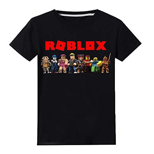 Roblox Camiseta Cómodo, Puro algodón, Manga Corta, Moda, Camiseta Impresa, Cuello Redondo, Top Informal niñas