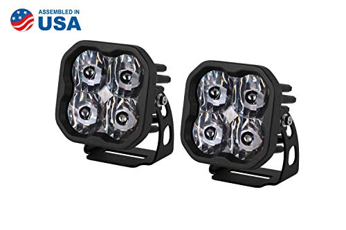 Diode Dynamics Stage Series 3in SAE/DOT White Sport Standard LED Pod (pair), SAE/DOT Driving
