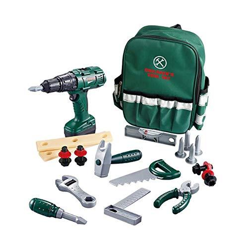 qijie Werkzeugkoffer, Kinder Rollenspiel Mit 22 Stück Werkzeugen Und Rucksack Tool Spielzeug Geschenke Für...