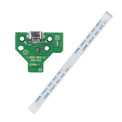 1 unids puerto de carga USB Socket Board JDS-011 para SONY PS4 controlador + cable de 12 pines S mini tablero de alto rendimiento