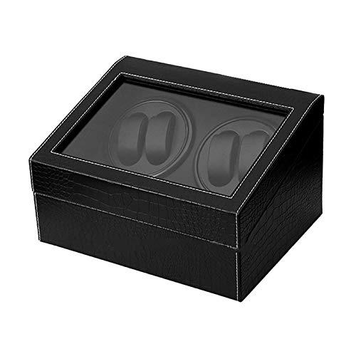 Soporte de reloj Miraderos - 4 + 6 Reloj automático de gama alta Caja de Winder Automatic Bander Relojes de cuero PU Soporte de exhibición de joyas de almacenamiento Ultra silencioso reloj mecánico Mo