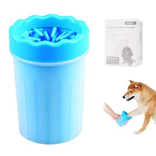 FayTun Limpiador de patas de perro, cepillo limpiador de huellas de mascotas, cepillo de limpieza portátil para limpieza de mascotas para limpiar las garras sucias del perro