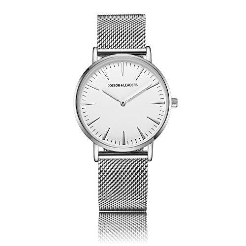 JOESON LEADERS Damen Uhr Analog Quarz mit Edelstahl Armband