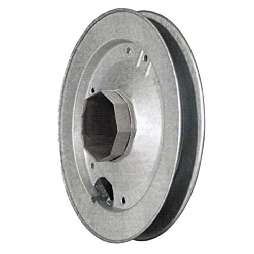 Polea para enrollables octogono, rodillo de hierro liso, diámetro 22 cm