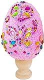 U/N Uova di Pasqua Fai-da-Te Fatte a Mano per Bambini,Giocattoli per Fabbricazione Fai-da-Te Uova Creative dipinte con Fiocchi di Neve e Fango per Feste di Pasqua Decorazioni Fai-da-Te (Rosa)