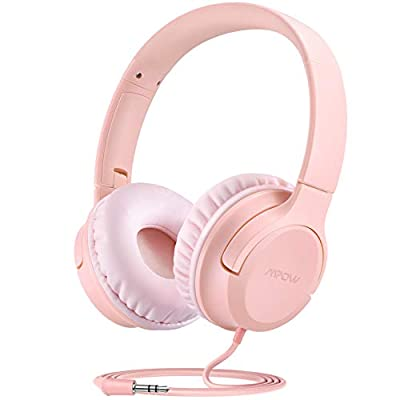 Kids Headphones, Mpow CHE2 Wired Headphones for Girl Kids Teen, Children Headphones with Volume Limit, Foldable Adjustable On-Ear Headphones for School, Travel, Compatible with Cellphones, Tablets, PC from Mpow