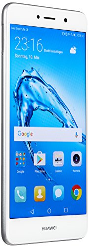 Huawei TRT-LX1 13,97 cm (5,5 Zoll) Smartphone Y7 (Dual SIM, LTE, Bluetooth, WiFi, Octa Core Prozessor, Android 7.0 Nougat) Silber