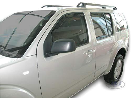 J&J AUTOMOTIVE   Deflecteurs d'air déflecteurs de Vent Compatible avec Nissan Pathfinder2005-2012 4 pièces