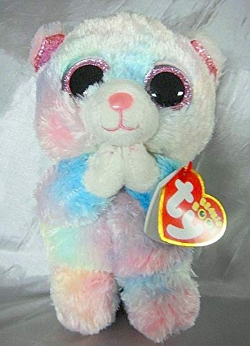Ty HOPE the PINK NOSE Praying BEAR 6' Beanie Boo-LTD ED Ultra Rare