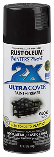 Rust-Oleum 249122-6 PK Painter's Touch 2X Ultra Cover, 12 Ounce (Pack of 6), Gloss Black