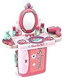 Dreamon Maquillaje y Maletin Peluqueria Set para Niños con Joyería Pintauñas Secador Accesorios Juguete Niñas 3 Años