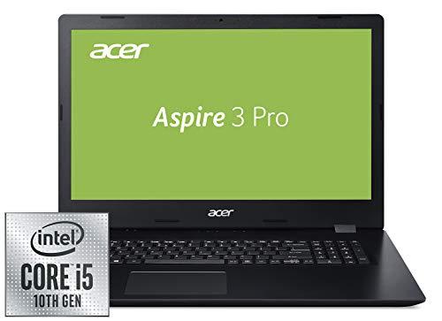 Acer Aspire 3 (A317-51G-51SN) 43,9 cm (17,3 Zoll Full-HD IPS matt) Multimedia Laptop (Intel Core i5-10210U, 8 GB DDR4 RAM, 512 GB PCIe SSD, NVIDIA GeForce MX250, Win 10 Pro) schwarz