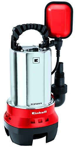 Einhell Schmutzwasserpumpe GC-DP 6315 N (630 W, max. 17000 l/h, max. Förderhöhe 8 m, Fremdkörper bis 15 mm, Edelstahl-Pumpengehäuse)