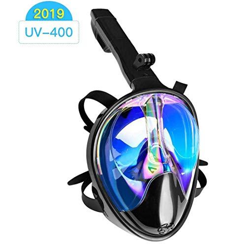 GJNWRQCY Máscara de Snorkel de Cara Completa 180 ° Vista al mar, máscara de Buceo Anti-vaho y Anti-Fugas con cámara Desmontable, diseño de Montaje Equipo de Snorkel para Adultos,L/XL