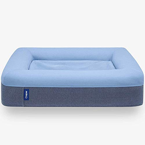 Casper Dog Bed, Plush Memory Foam, Medium, Blue