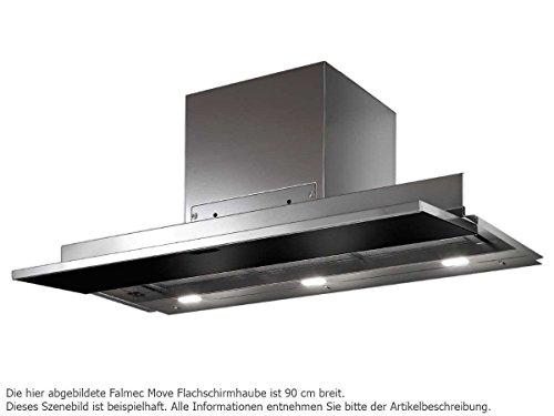 Falmec Move 80 Schwarz Flachschirmhaube Edelstahl