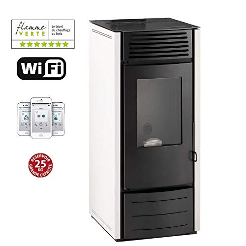INTERSTOVES - Poêle à granules MARINA 10KW - Blanc option WIFI