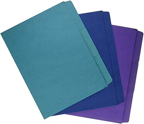 Smead SuperTab Organizer Folder, Oversized 1/3-Cut Tab, 2 Dividers, Letter Size, Assorted Colors, 3 per Pack (11989), 4 Pack
