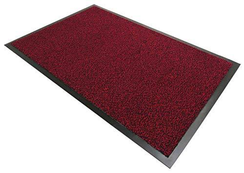 CASA TESSILE Nevada Zerbino Tappeto asciugapassi - Rosso, 90x120 cm.