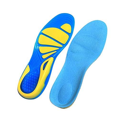 GZSC Plantilla Plantillas de Silicona Cuidado de los pies for la Fascitis Plantar Masajes ortopédicos Inserciones de Calzado Absorción de Impactos Zapato de protección Unisex