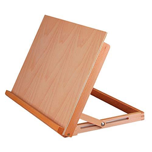 Caballete de madera ajustable para estudiante artista, caballete plegable de escritorio para dibujo, caja de caballete para dibujar pintura, bocetos, exhibición de manualidades, 90° de inclinación