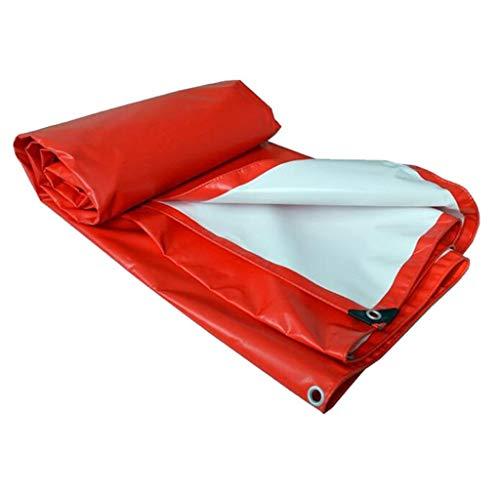 De plein air Couverture imperméable de pluie de toit de bateau de voiture de bâche de protection de tente de remorque de camping feuille de bâche rouge UV protégée et résistant à l'humidité, couvertur