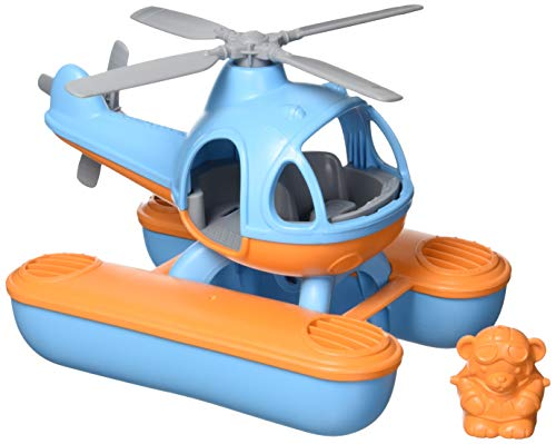 Green Toys Seacopter, Blue/Orange CB - Pretend Play, Motor Skills, Kids Bath Toy Floating Vehicle. No BPA, phthalates, PVC. Dishwasher Safe, Recycled Plastic, Made in USA.