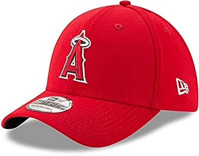 New Era MLB Los Angeles Angels Team Classic Game 39Thirty Stretch Fit Cap, Red