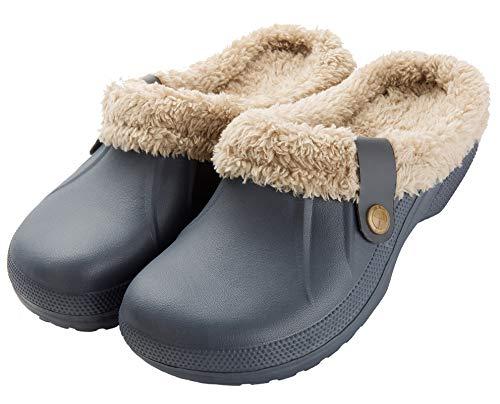 CELANDA Zoccoli da Giardino Caldo Foderati Uomo Donna Ciabatte da casa Peluche Pantofole Invernali Impermeabile Sabot Scarpa Giardino