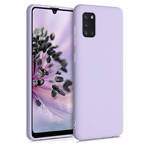 kwmobile TPU Silicone Case Compatible with Samsung Galaxy A31 - Soft Flexible Protective Phone Cover - Lavender