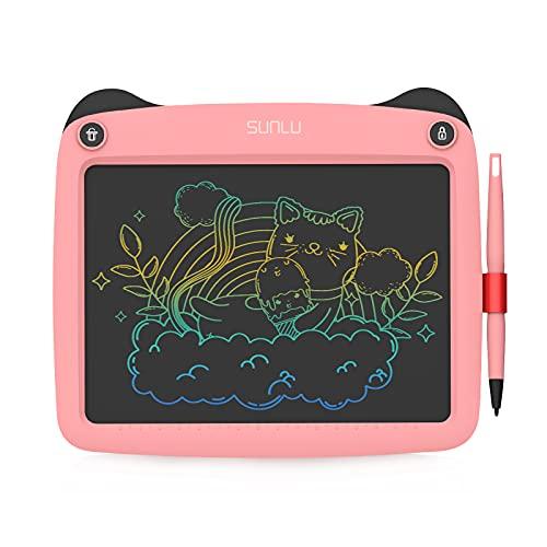 SUNLU Tableta de Escritura LCD, Dibujo y Escritura para niños y Adultos, Papel de Escritura a Mano para Oficina, Escuela, hogar (9 Pulgadas Rosa)