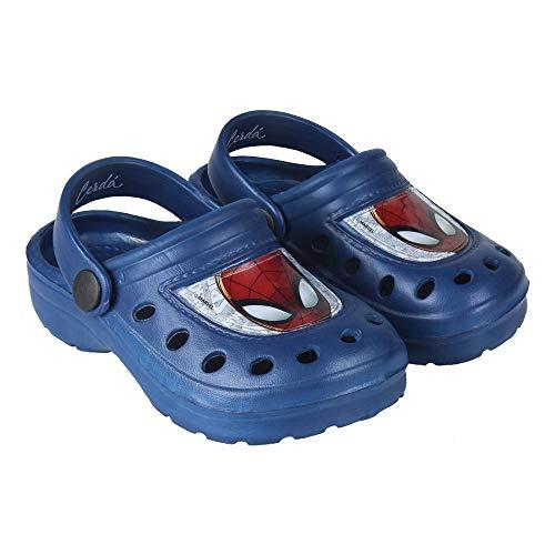 Marvel Spiderman Jungen Hausschuhe Pantoffeln Schuhe Clogs blau NEU Gr.26/27