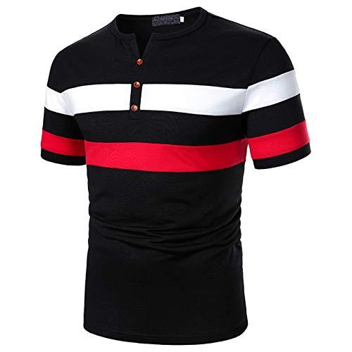 ZouYiL Herrenhemd Tops Regular Fit Poloshirt Schlankes Poloshirt V-Ausschnitt Einfarbig Freizeit Polo Freizeithemden Tops Herrenarbeit T-Shirts Tennis Bowling Golf Polohemd T-Shirt für Männer S-XXL